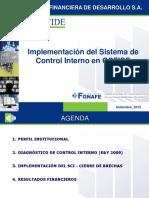 Sistema de Constrol Interno - COFIDE