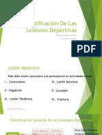 Clasificación de Las Lesiones Deportivas