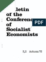 Conference of Socialist Economists Bulletin Autumn 1972
