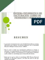 Sistema Informático de Facturación, Cobro de Pensiones