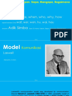 Model Komunikasi Harold D Laswell