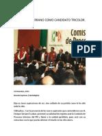 15-12-23 Se Registra Serrano Como Candidato Tricolor