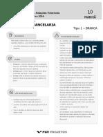 MRE Oficial de Chancelaria (OFICIAL-CH) Tipo 1