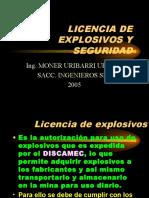 Licencia Explosivos Seguridad