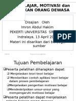 TEORI BELAJAR dan MOTIVASI  PEKERTI 2015.ppt