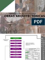 OBRAS ARQUITECTÓNICAS