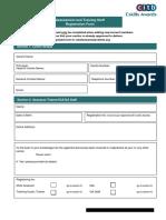 Qa7-Assessment and Training Staff Registration Form