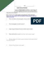 Double Exposure Worksheet
