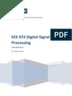 Eee472 Dsp Lab Manual