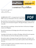 Dutch Firm to Construct P13