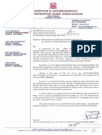 letter to Member(P) on relaxation of qualifying service