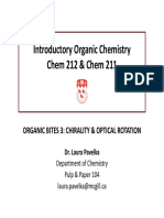 CHEM 212 - Chirality % Optical Rotation Review