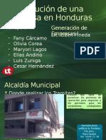 Constitución de Una Empresa en Honduras