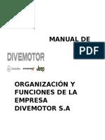 Manual de Organización y Funciones de La Empresa Divemotor