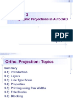 Chapter 3 - Orthographic Projections in AutoCAD 2016