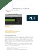 Roland JD-990 Resource Centre