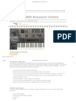 Roland JD-800 Resource Centre