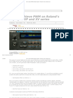 How to Achieve PWM on Roland's SuperJV _ XP and XV Series