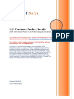 WeMakeItSafer Recall Statistics Report 2004 - 2008 Sample