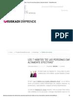 Los 7 Hábitos _de Las Personas Emprendedoras Altamente Efectivas_ - EuskadiEmprende