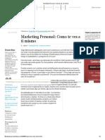 Marketing Personal_ Como Te Ves a Ti Mismo