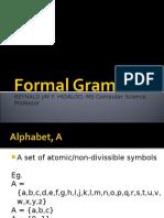 Formal Grammars Real