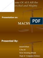 Macsyma Expert System