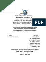 PROYECTO DE CONSTRUCCIÓN DE UN MURO DE CONTENCIÓN EN EL SECTOR MONTAÑITA ALTA, CARACAS, VENEZUELA