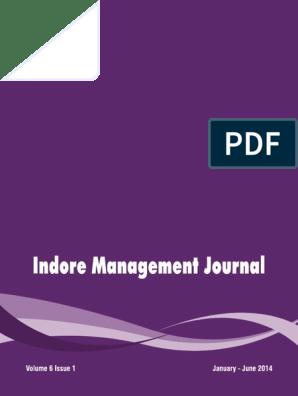 Vol -6-Issue-1 | Strategic Management | Working Capital