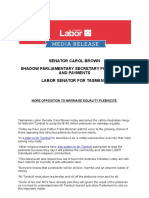 More Opposition to Marriage Equality Plebiscite