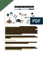 Pengertian Resistor Dan Jenis