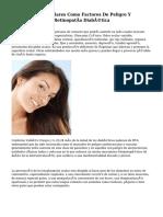 Enfermedades Oculares Como Factores De Peligro Y Protectores De La Retinopatía Diabética