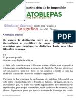 Gustavo Bueno, El Mapa Como Institución de Lo Imposible