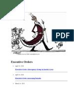 Obama' Executive Orders
