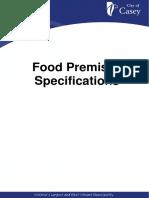 Food Premises Specifications