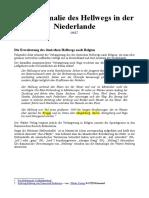 Eine Anomalie des Hellwegs in der Niederlande