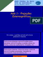 Aula 1 - 2 Projeções Estereográficas