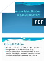 Group III Cation Analysis