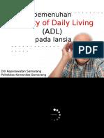 Adl Lansia PPT