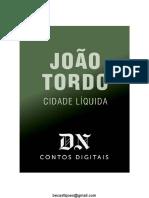 Cidade Líquida - João Tordo