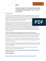 Global Renewable Energy Market to 2022 Size,Share,analysis,Trends and Forecast,by Brisk Insights