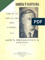 Luis Emilio Recabarren, La Rusia Obrera y Campesina (1923)