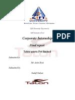 Talon Sports Corporate Internship Report Final