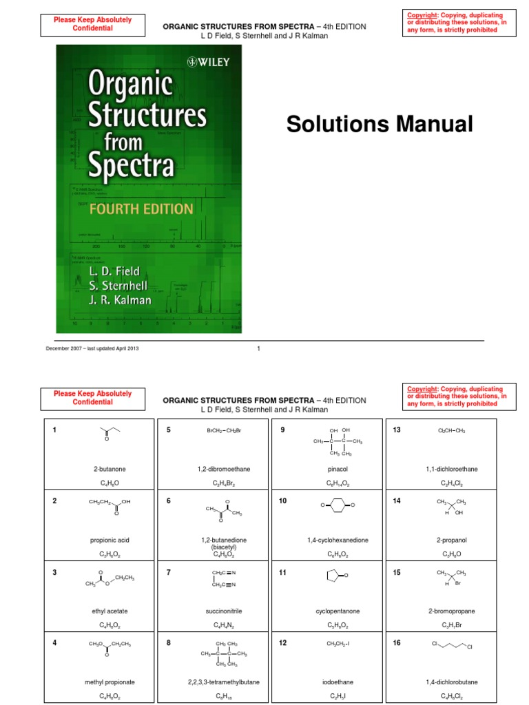 Organic-Structures-from-Spectra-Edition-4-(2008)-Solutions-Manual.pdf |  Parts Per Notation | Carboxylic Acid