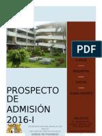 Prospecto de Admisión 2016-I-UPG FCCSS UNMSM