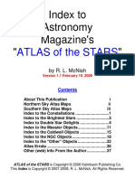 Index to .the Atlas of the Stars