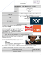 U27 LO1+LO2 FACTUAL PROGRAMMING FOR TELEVISION – REPORT Brief