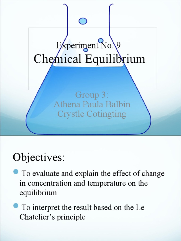 a lab experiment to explore chemical equilibrium