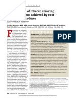 The influence of tobacco smoking  on the outcomes achieved by root-  coverage procedures