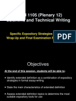 FOUN 1105 Plenary 12 Semester 2 2014-2015 MyeLearning Version